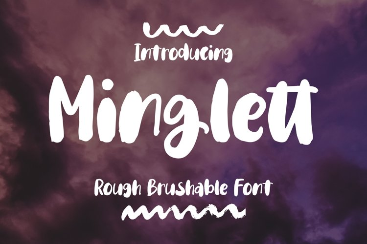 Minglett - Rough Brushable Font example image 1