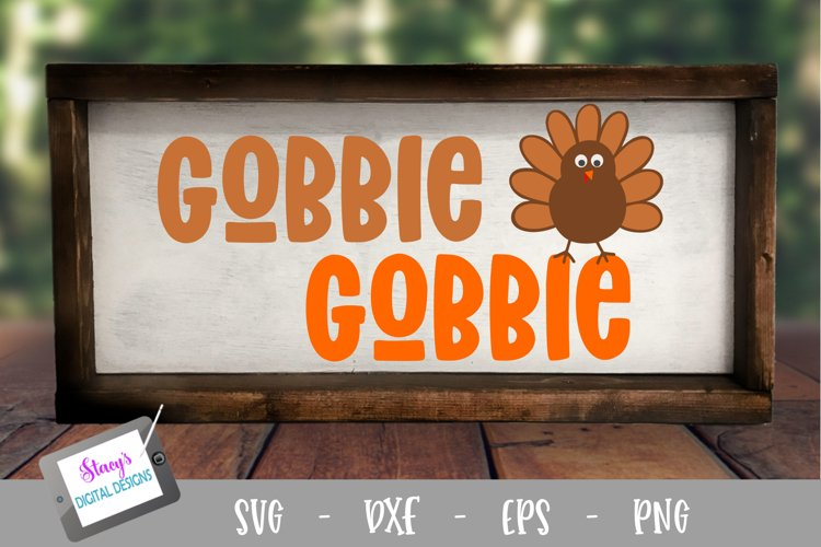 Thanksgiving SVG - Gobble Gobble with Turkey