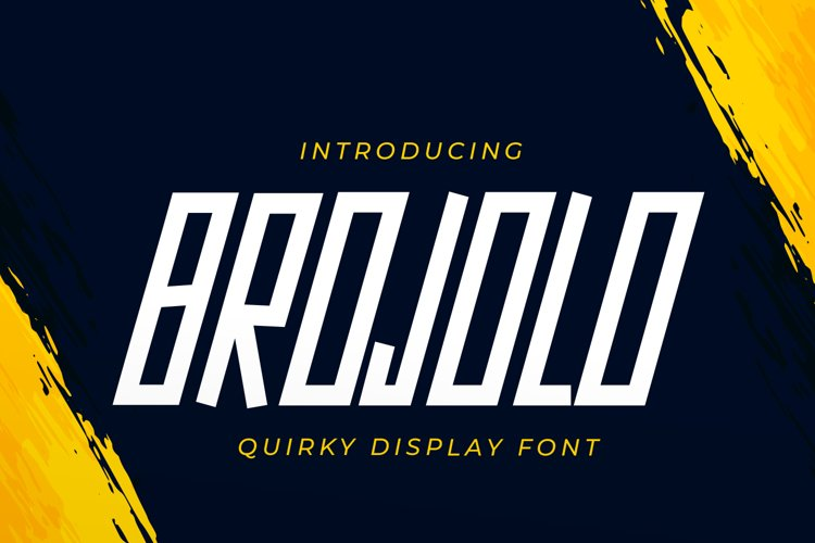 Brojolo - Quirky Display Font example image 1