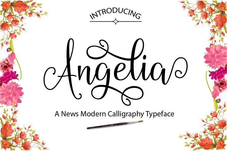 Web Font Angelia example image 1