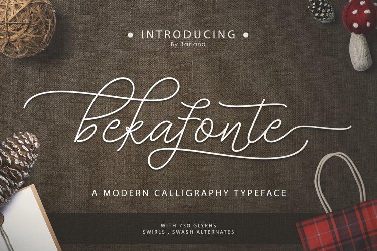 Bekafonte Typeface example image 1