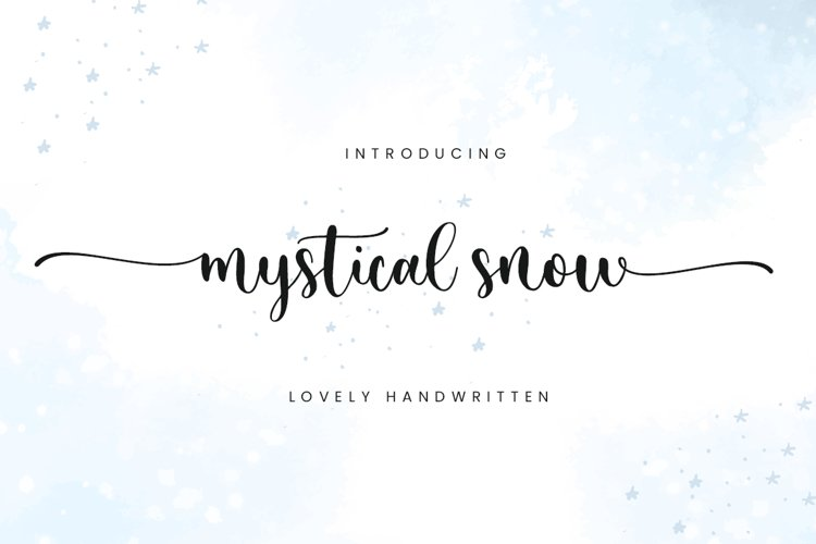 Mystical Snow - Beautiful Font example image 1