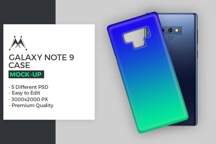 Galaxy Note 9 Case Mockup Set