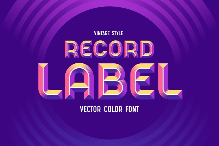 Record Label - Color Vector Font example image 1