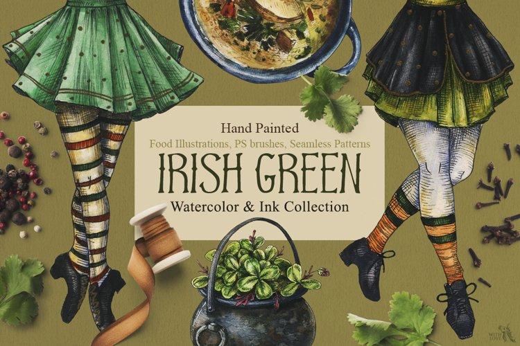 Irish Green Watercolor and Ink Set