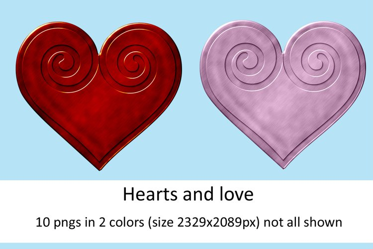 Hearts and love scrapbooking elements example image 1