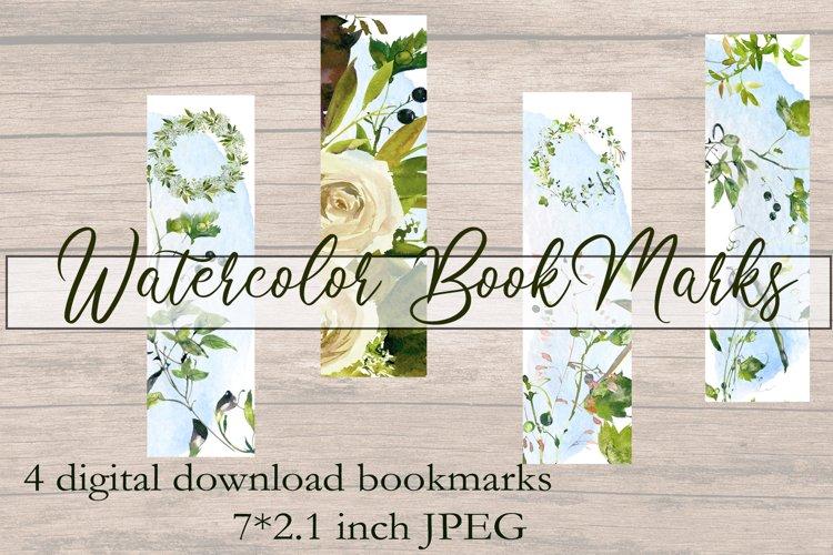Printable Bookmarks BOHO Watercolor