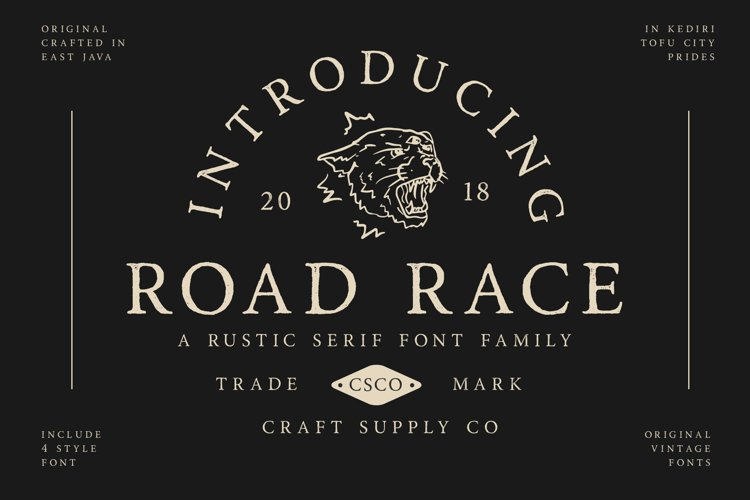 Road Race Font Family Extras example image 1