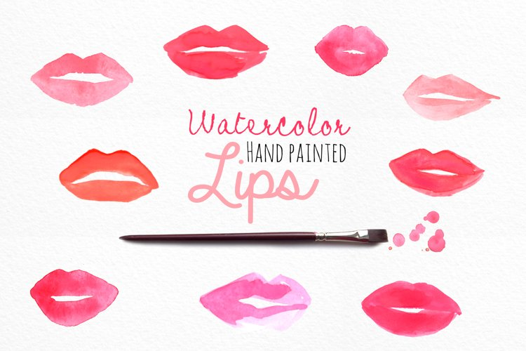 Watercolor Lips example image 1