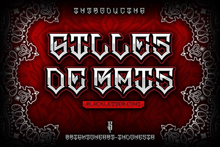 GILLES DE RAIS | gangster type font