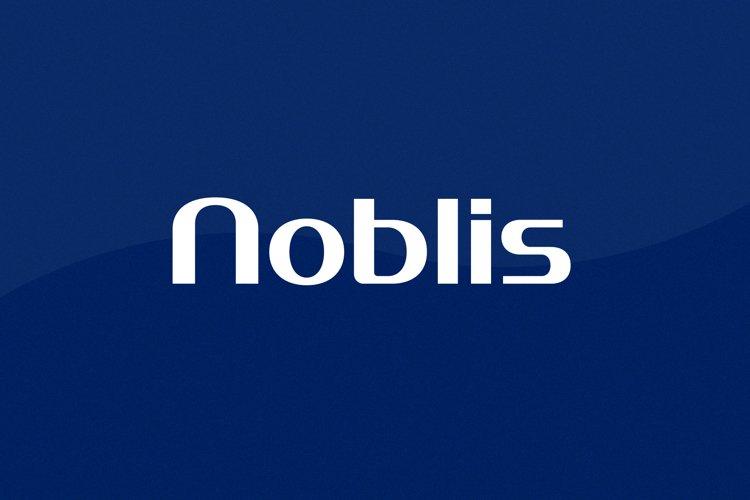 Noblis Wordmark Font   73 Glyphs