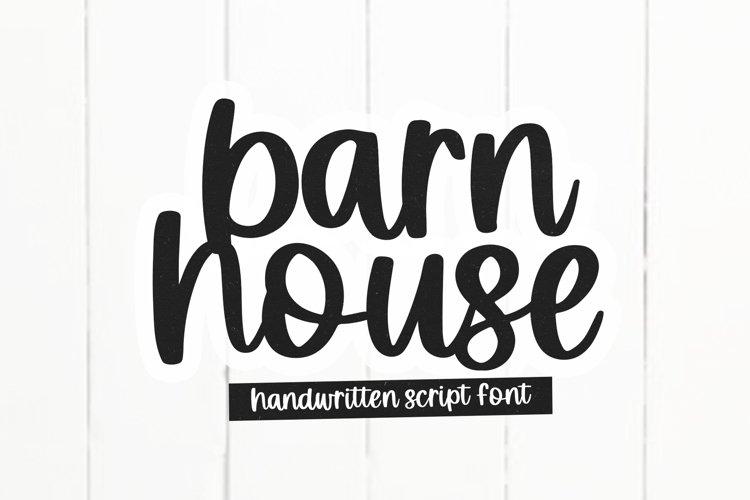 Barnhouse - Handwritten Script Font example image 1
