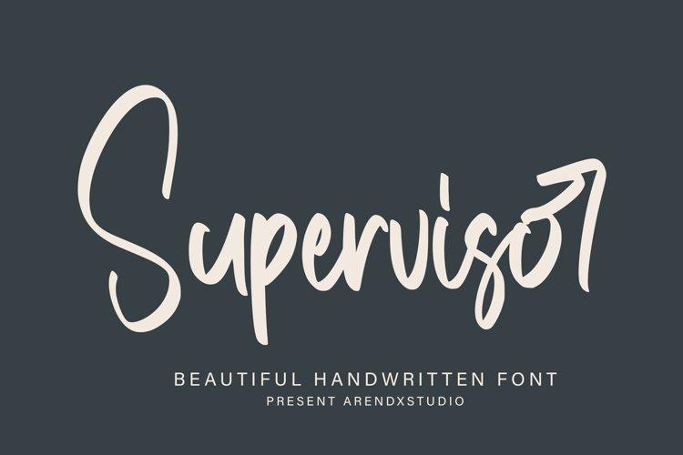 Supervisor - Handwritten Font example image 1