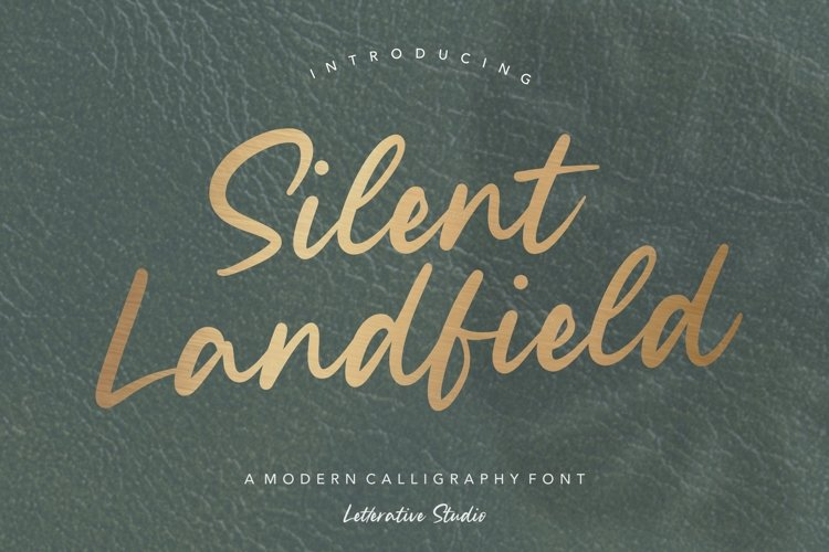 Silent Landfield Modern Calligraphy Font example image 1