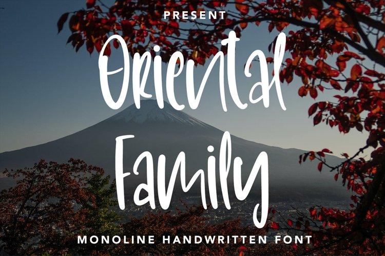 OrientalFamily - Monoline Handwritten Font example image 1