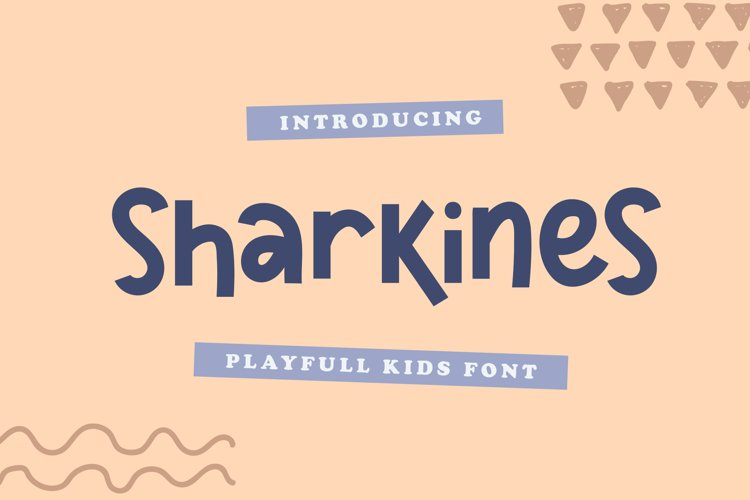 Sharkines | Playful Kids Font example image 1