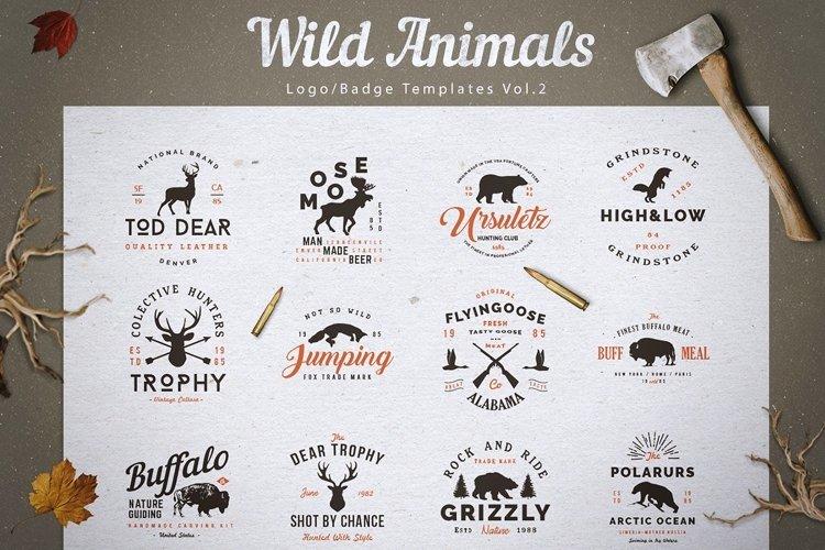 Wild Animals Logos v2| Forest Animal Logos | Hunting Logos example image 1