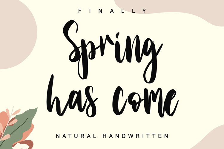 Spring has come example image 1