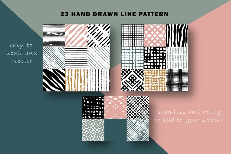 hand drawn line pattern collection