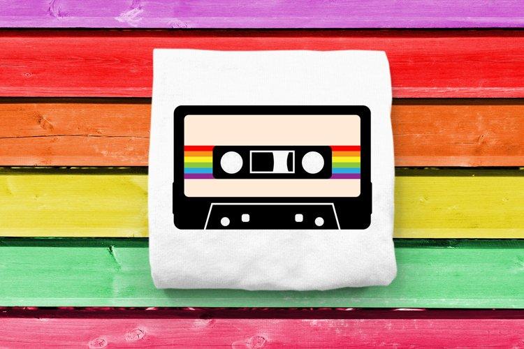 80s Rainbow Cassette Tape SVG File