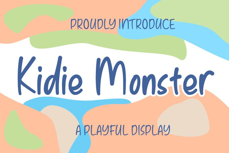 Kidie Monster Font With Cute Monster Characters example image 1