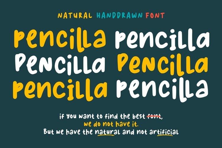 Pencilla - Natural Handdrawn example image 1