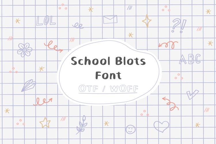 School Blots Font example image 1