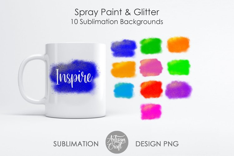 Sublimation designs, Spray Paint ,glitter