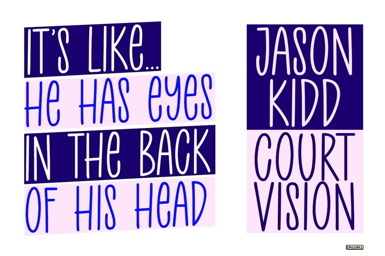 Court Side - A Playful Handwritten Font example 1