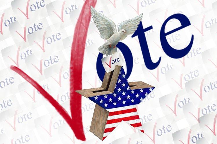 Vote Clipart, Voting Clipart, Voting Usa Clipart example image 1