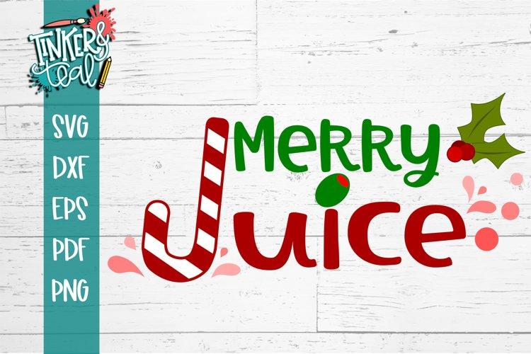Merry Juice Christmas Martini SVG example image 1