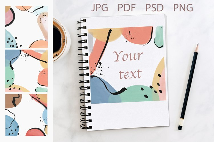 Abstract frames  Watercolor cards