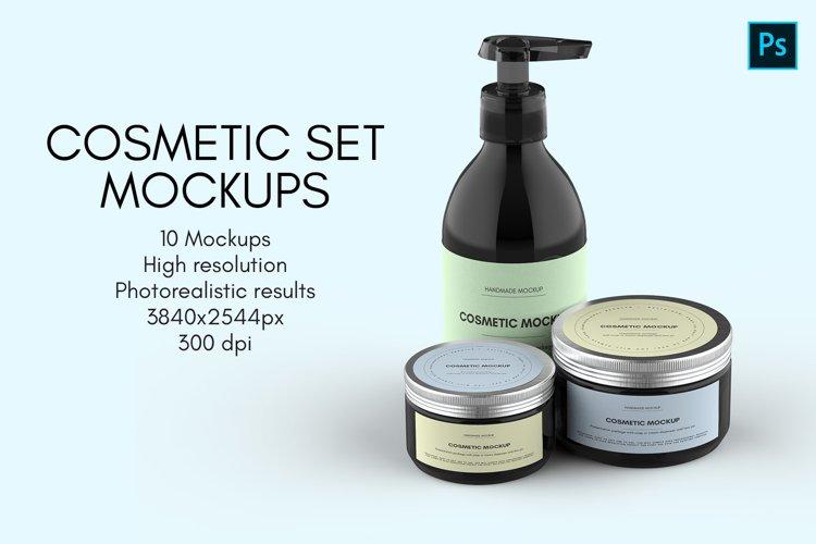 Cosmetic Set Mockups - 10 views example image 1