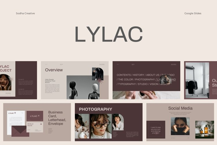 LYLAC Google Slides Brand Guidelines Template example image 1