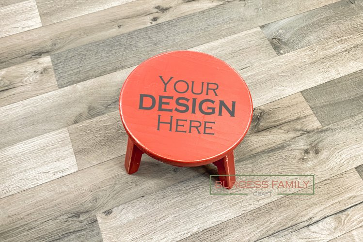 Time out stool red Vol III | Craft mock up