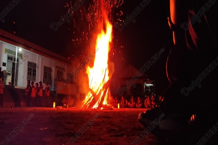 very nice and beautiful bonfire view example image 1