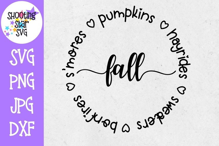 S'mores Hayrides Pumpkins Bonfires Sweaters - Fall SVG example image 1