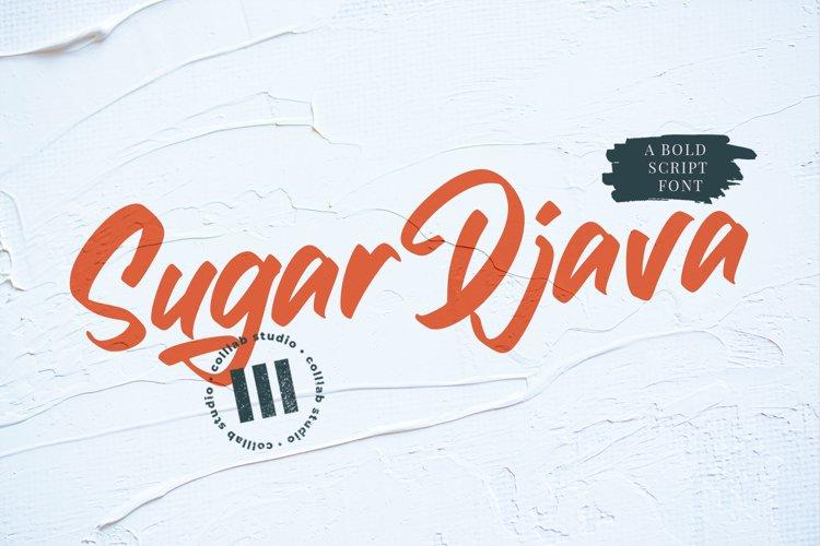 Sugar Djava - A Bold Script Font example image 1