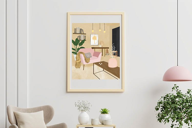Illustration of a room interior example image 1