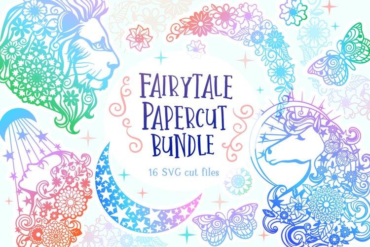 Fairytale Papercut Bundle - 16 SVG cut files