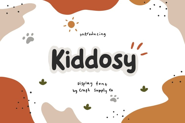 Kiddosy - Playful Display Font example image 1