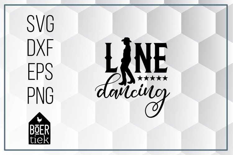 Line dancing, SVG cutting file
