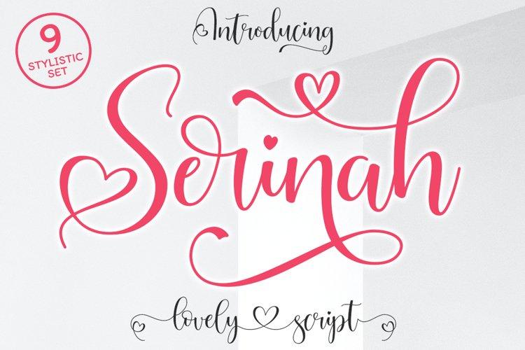 Serinah Lovely Script example image 1