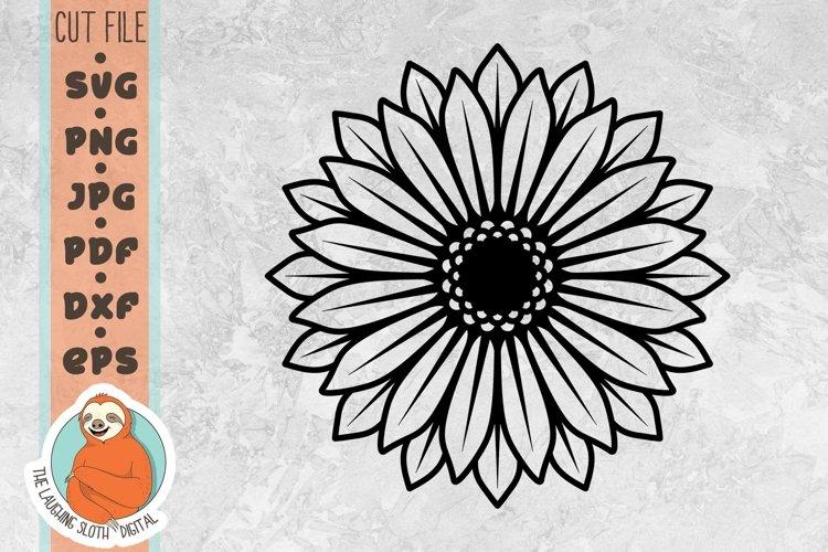 Single Sunflower SVG - Flower SVG example image 1