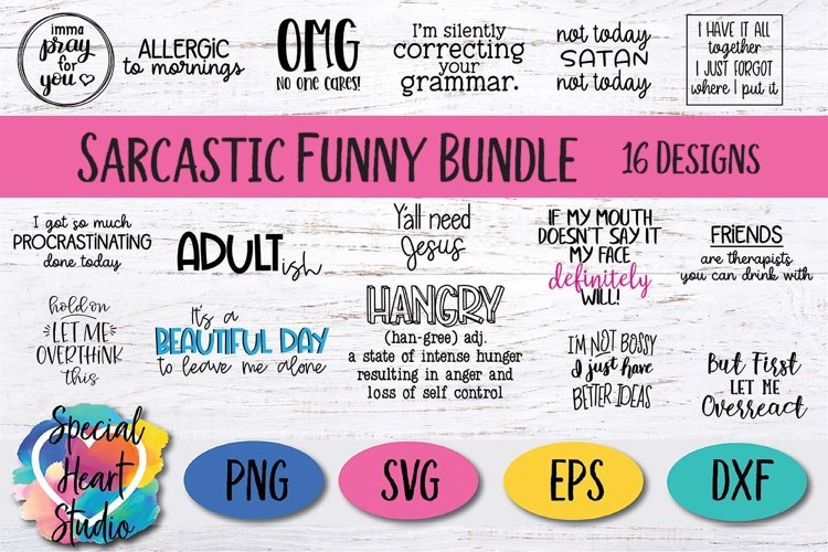 Sarcastic and Funny - A bundle of hilarious SVG files