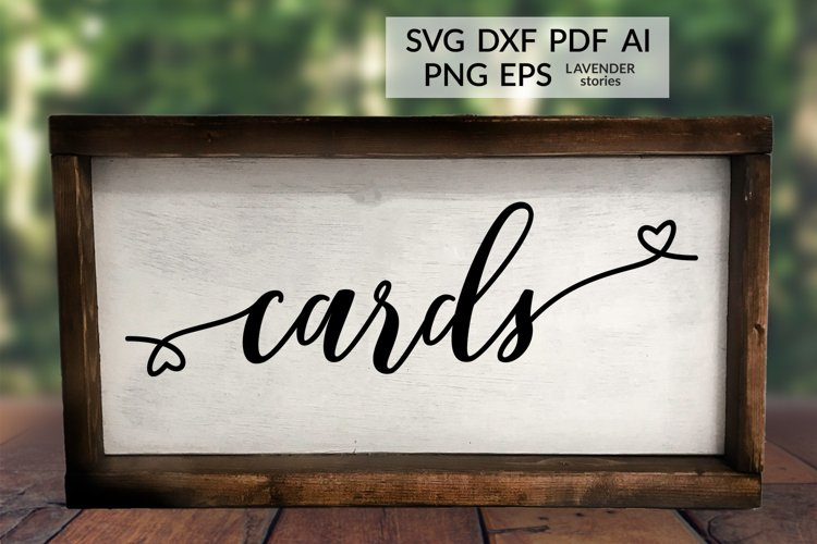 Cards - Wedding sign SVG cut file example image 1