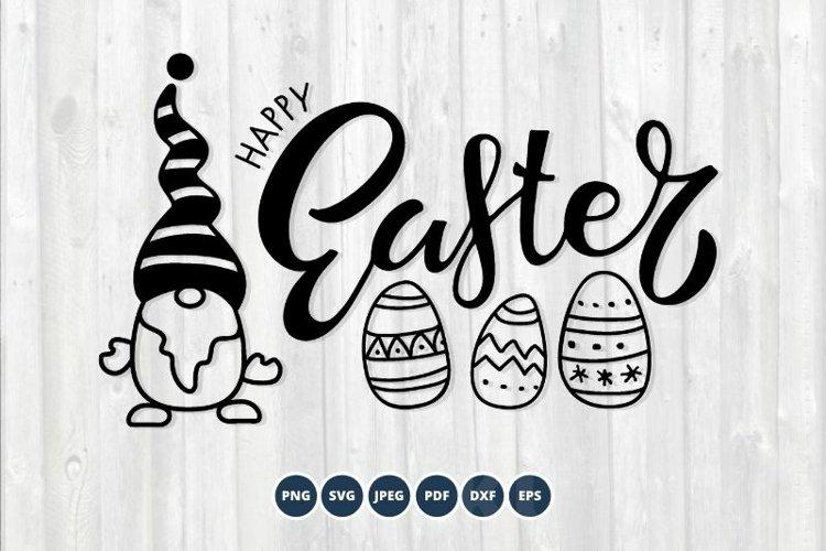 Gnome Happy Easter SVG. Happy Easter Svg, Gnome Svg example image 1