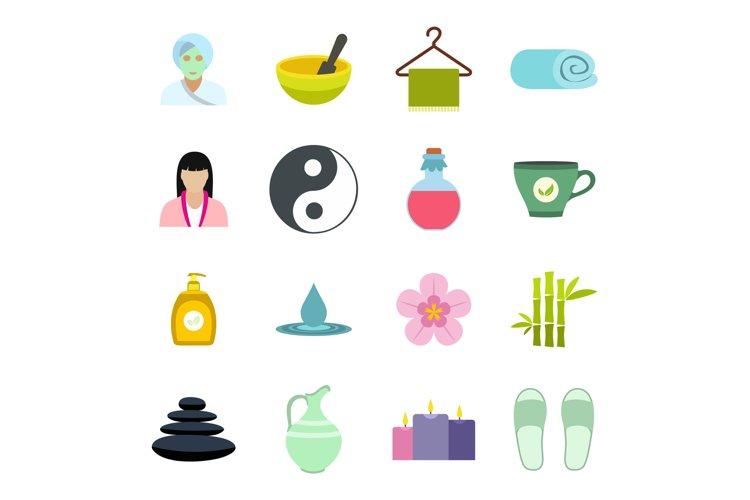 Spa flat icons set example image 1