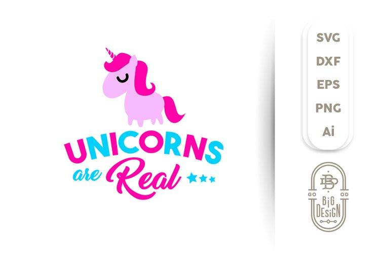 Svg Cut File Unicorns Are Real Eps Dxf Png Ai 122728 Svgs Design Bundles