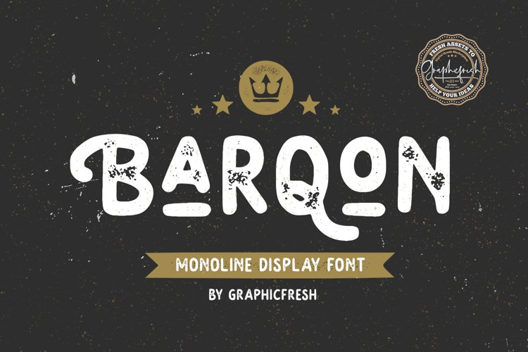 Barqon | Display Monoline Font example image 1